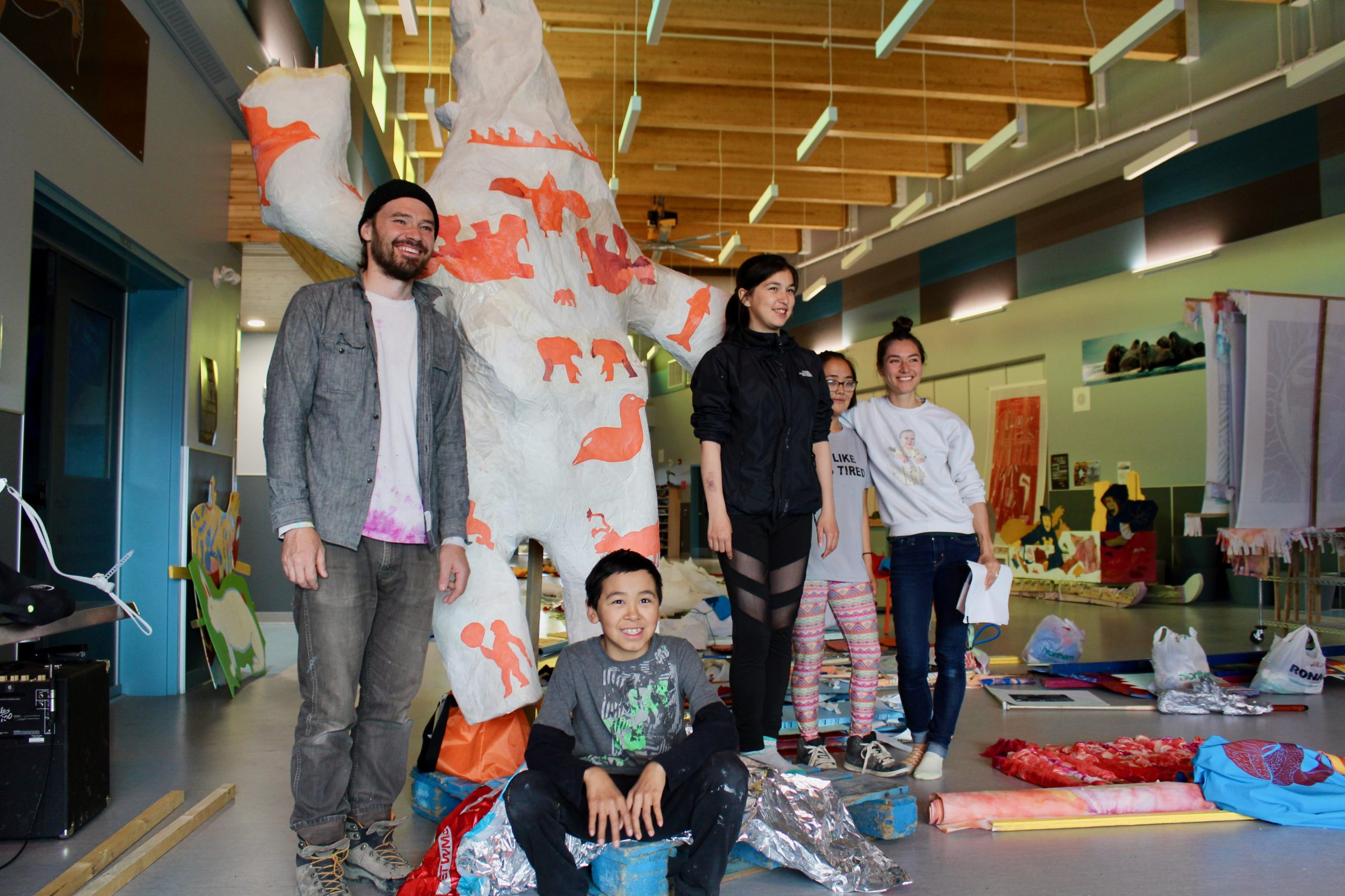 Cape Dorset youth showcase art in parade around town