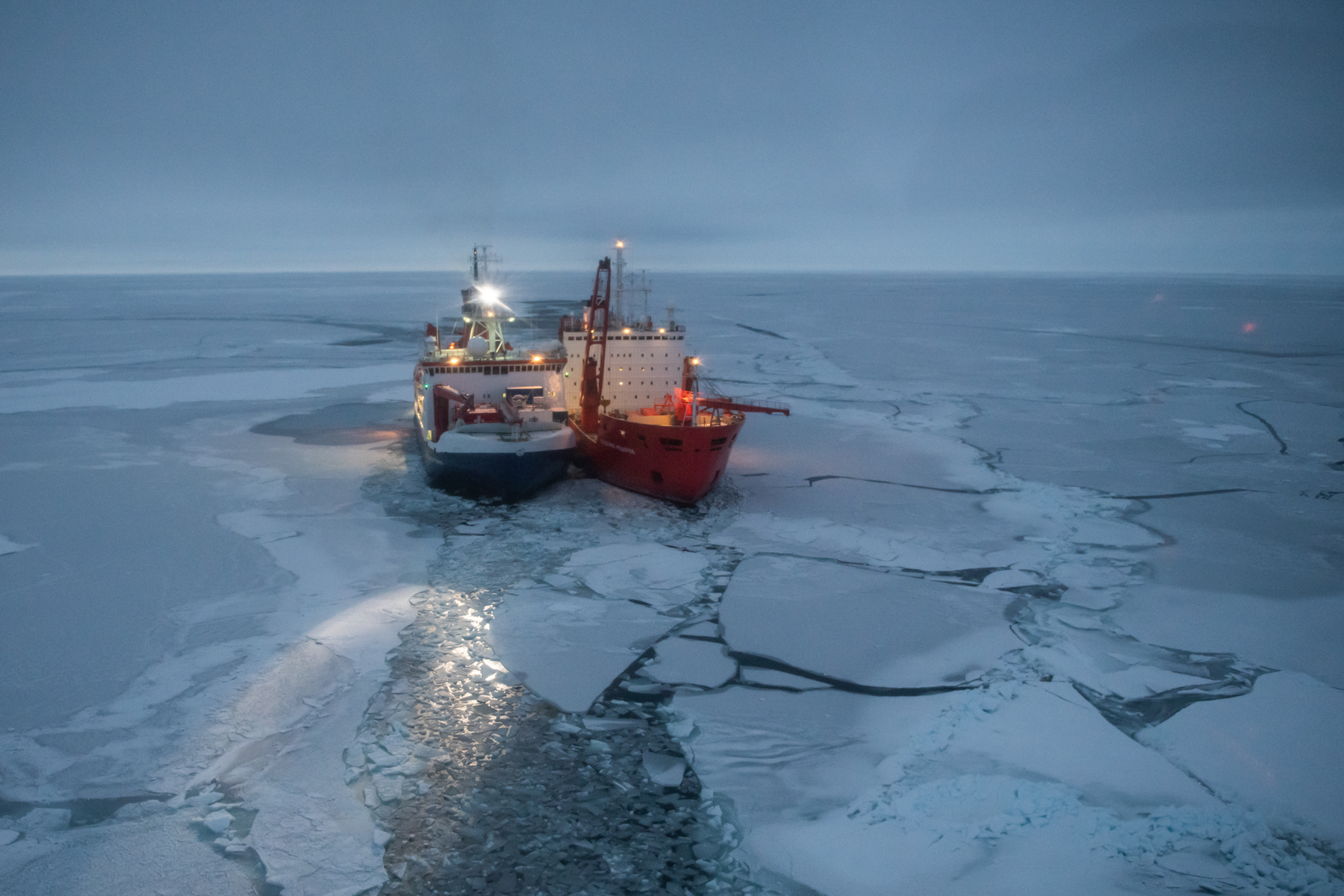 After finding its floe, a drifting Arctic research icebreaker settles in for polar night | Nunatsiaq News