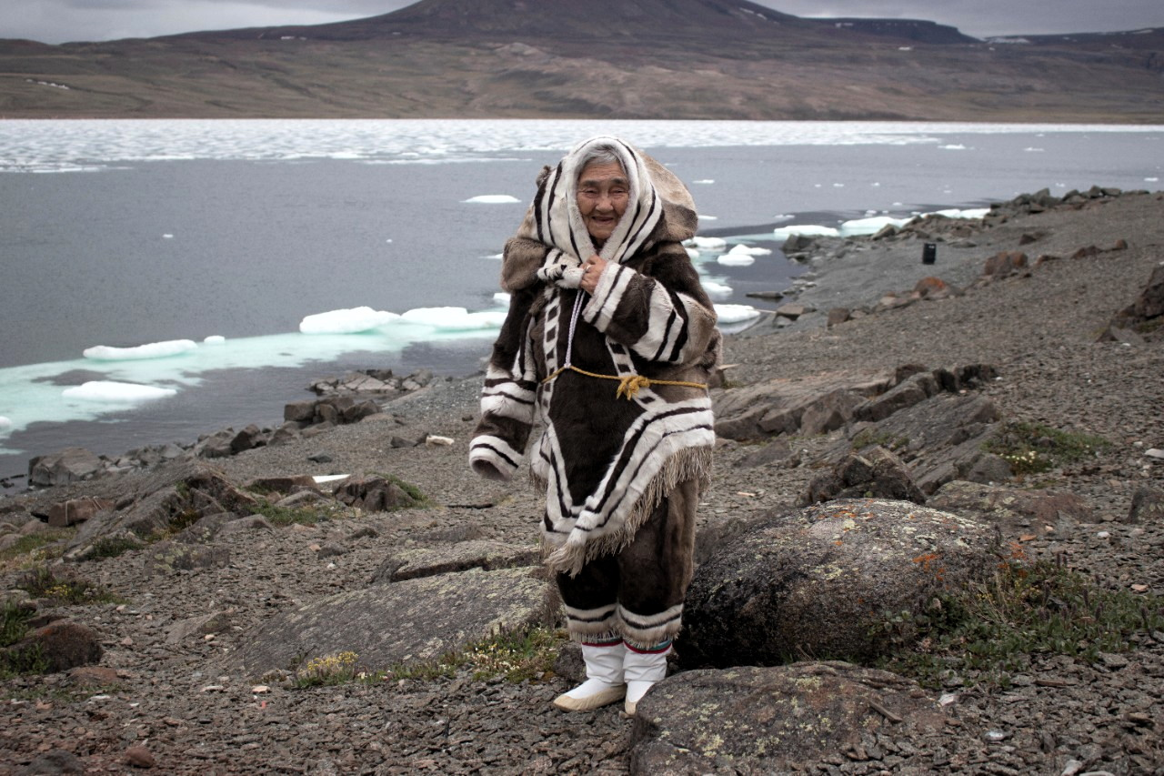 """Arctic Bay elder Qapik Attagutsiak, who turns 101 on June 11, is one of 12 Indigenous Canadians nominated for an Indspire lifetime achievement award this year. """"Qapik's lifework has embodied both Inuit Qaujimajatuqangit and Inuit societal values.  Her longevity and her legacy represent a shining example for young Inuit to follow,"""" says the backgrounder on her nomination. The Indspire award ceremony will be broadcast on APTN and CBC on June 22. (File photo courtesy of Parks Canada)"""