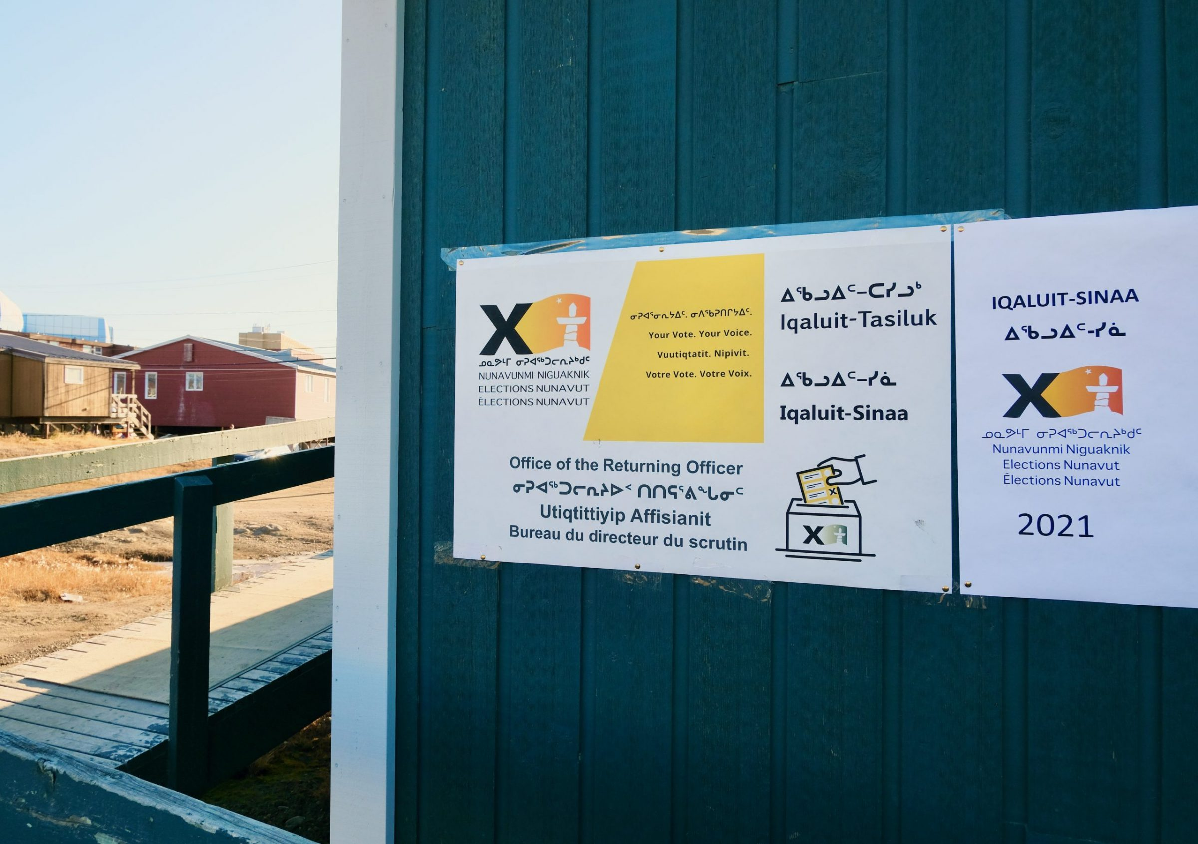 Advanced polling stations are open across Nunavut until Oct. 21. Nunavummiut can vote at their local ridings' returning officer's offices until then. Advanced poll numbers will be posted next week, before the general election takes place on Oct. 21. (Photo by Mélanie Ritchot)